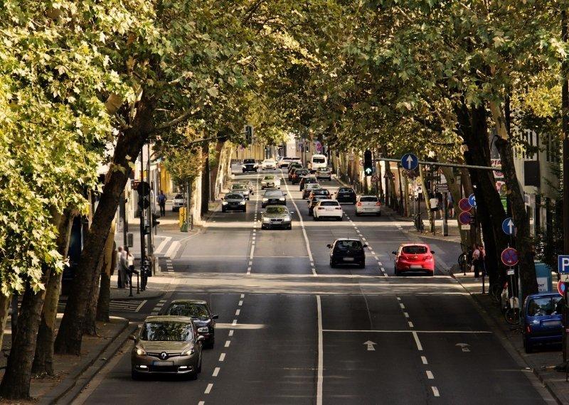 ciudad, coches